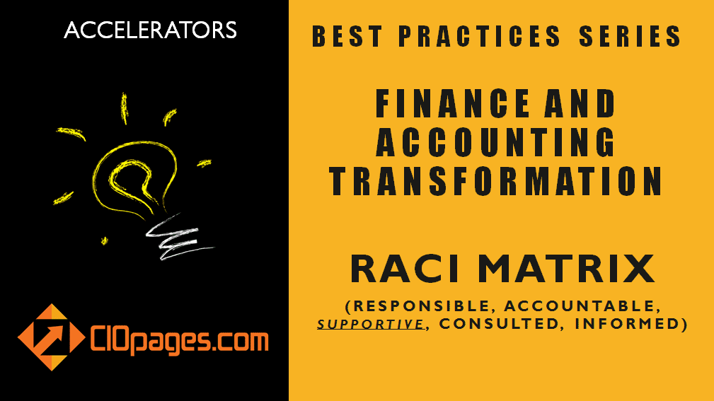 Finance Transformation Project RACI Matrix