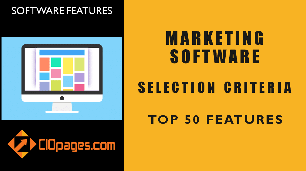 Marketing Software Top 50 Features