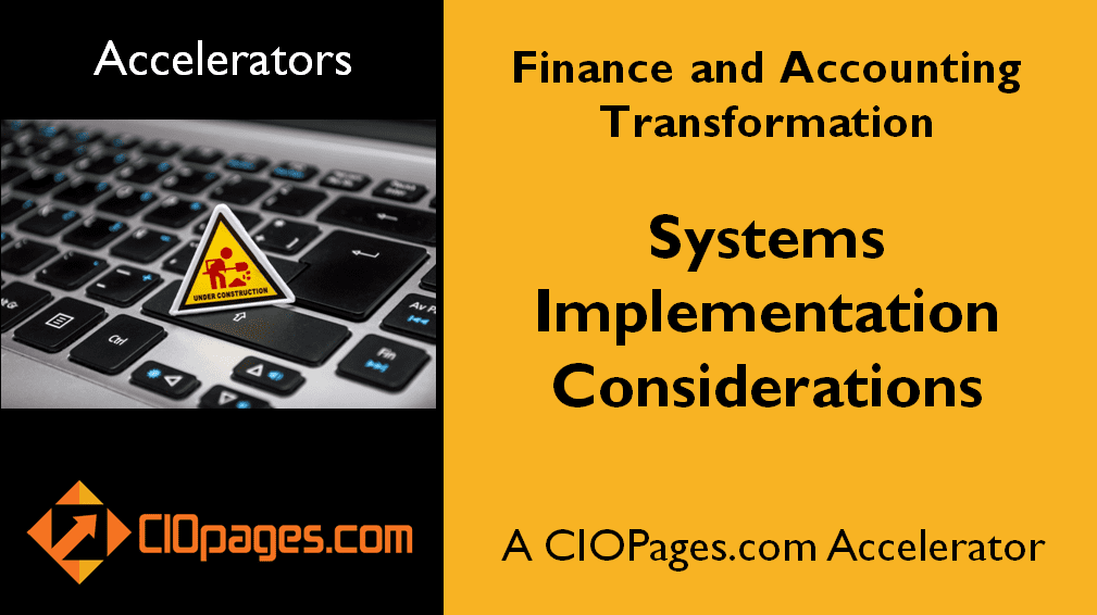 Finance Transformation Implementation Considerations