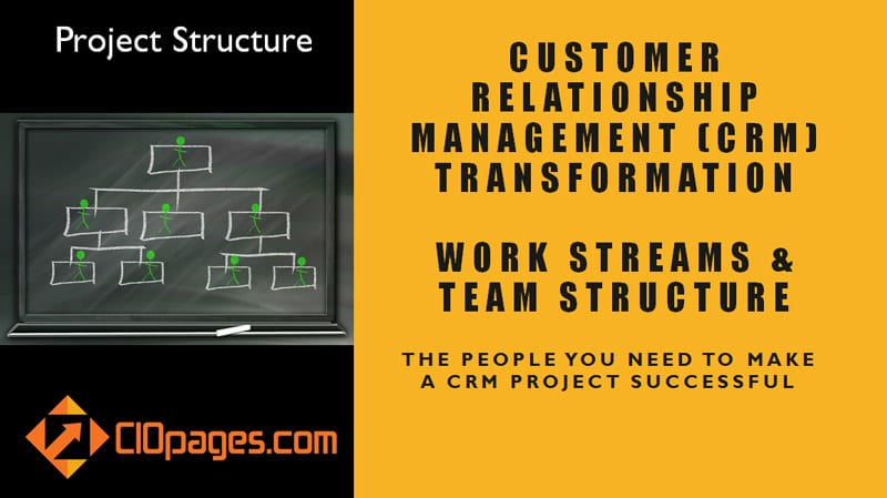 CRM Transformation Project Work Streams