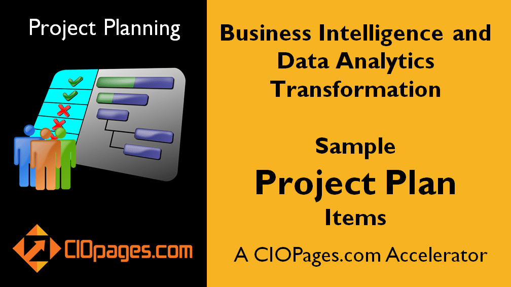 Business Intelligence Transformation Sample Project Plan