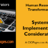 Human Resources Transformation Implementation Considerations