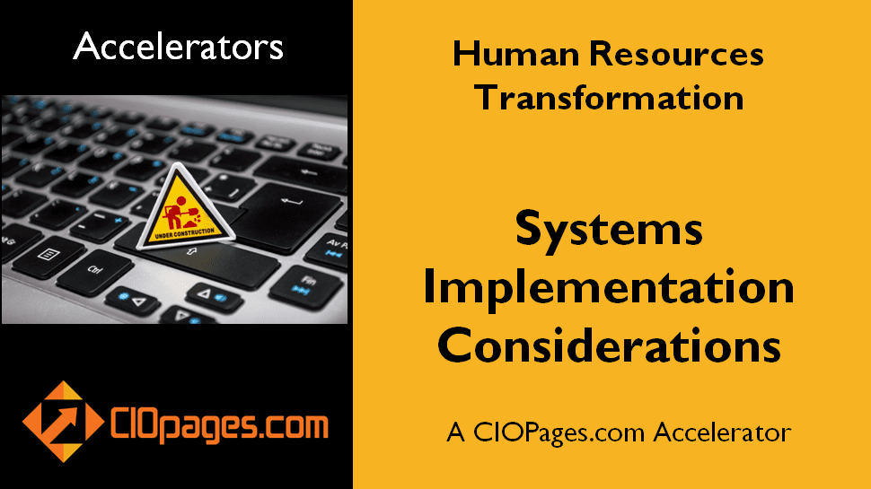 Human Resources Transformation – Implementation Considerations
