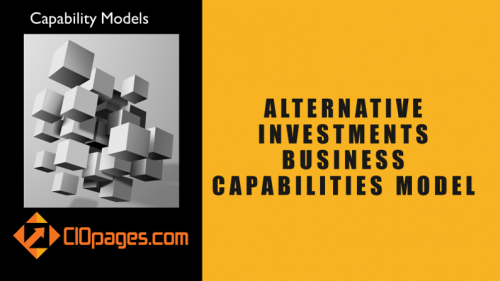 Alternative Investments Business Capabilities Model